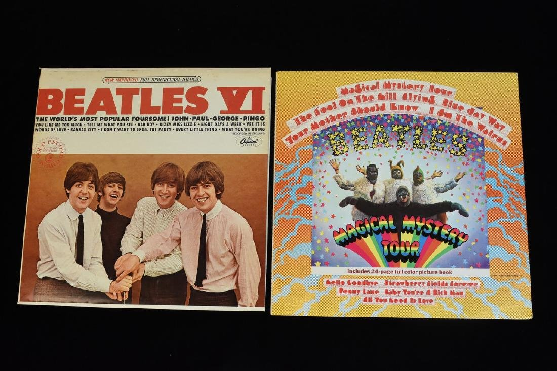 (6) Vintage Capitol Beatles Albums on Vinyl - 6