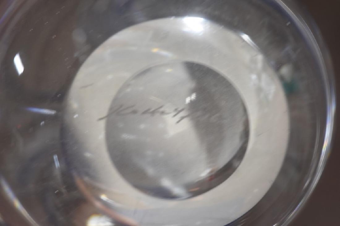 Kosta Boda Crystal Clear Vase w/ Etched Sailboat - 5