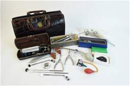 Vintage Homa Kruse Doctor Bag Full of Devices