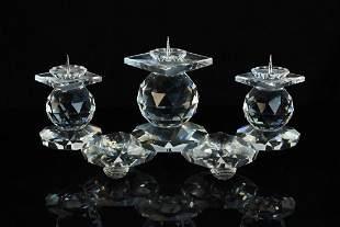 Swarovski Crystal Triple Candle Holder