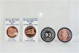 Silver Copper Railroad Coins