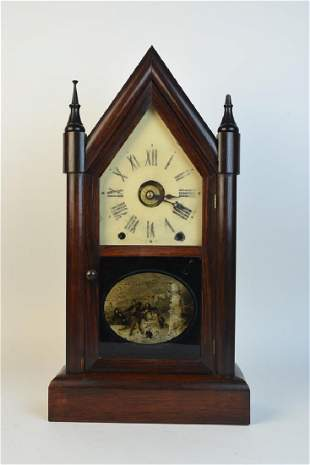 Seth Thomas Wood Steeple Clock