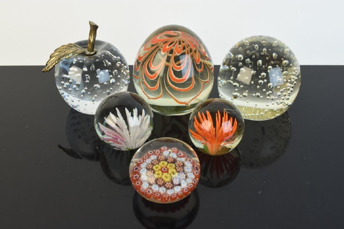 (6)Vintage Paperweights of All Sizes