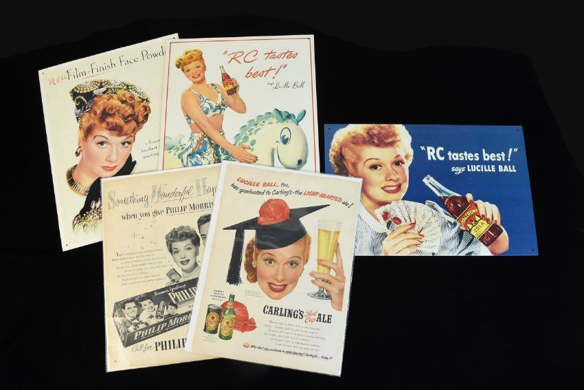 Lucille Ball Tin & Paper Advertisements