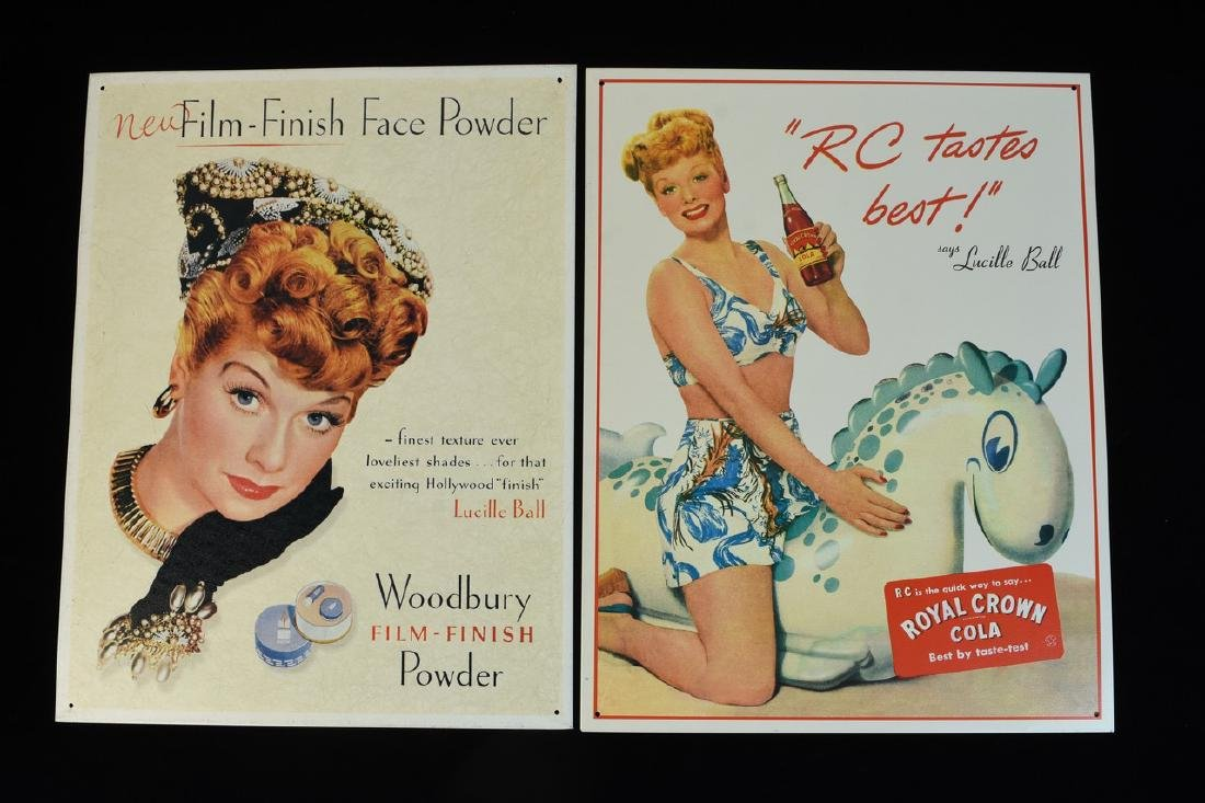 Lucille Ball Tin & Paper Advertisements - 2