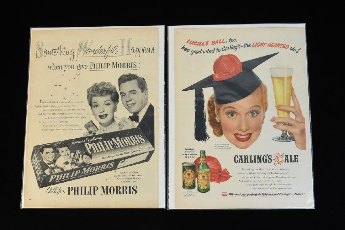 Lucille Ball Tin & Paper Advertisements - 5