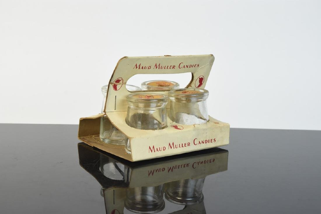 Maud Muller Glass Candy Container Set