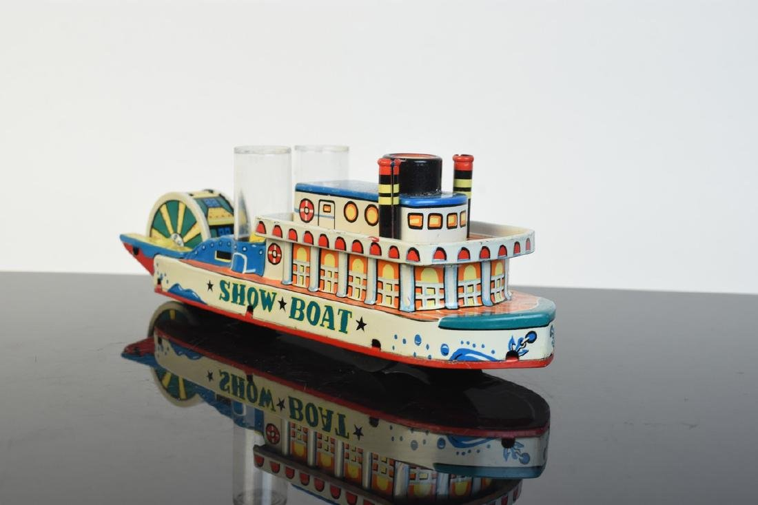 Friction Powered Tin Litho Show-Boat Toy; OB - 2
