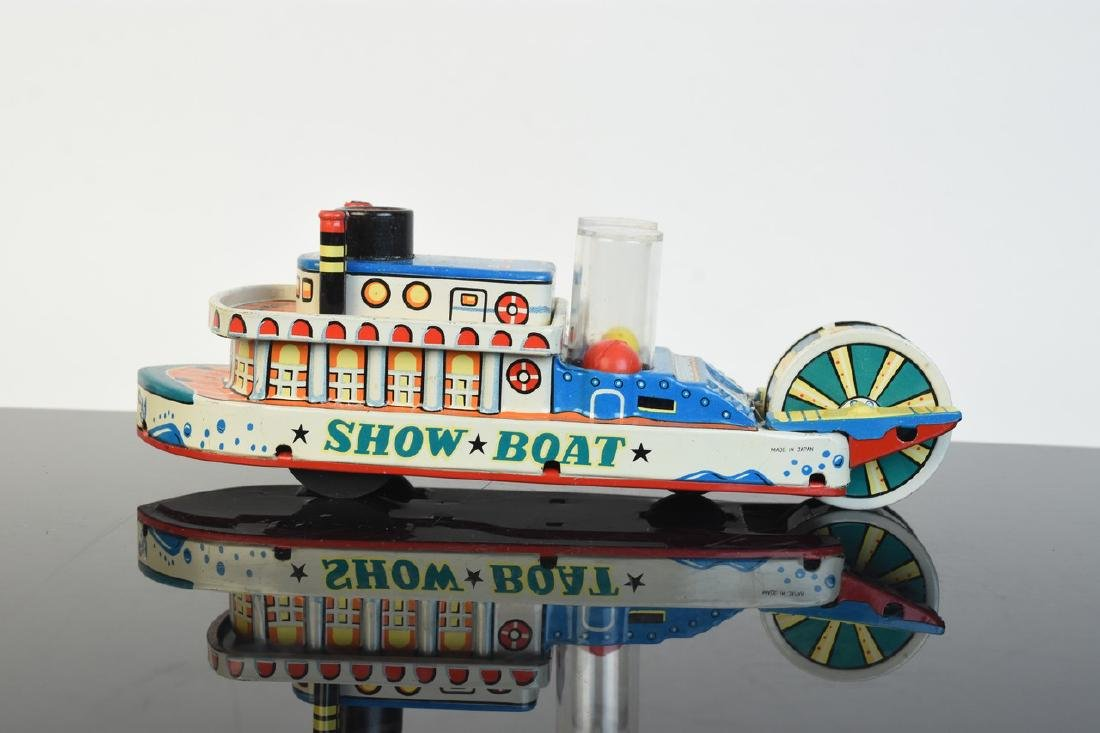 Friction Powered Tin Litho Show-Boat Toy; OB - 3