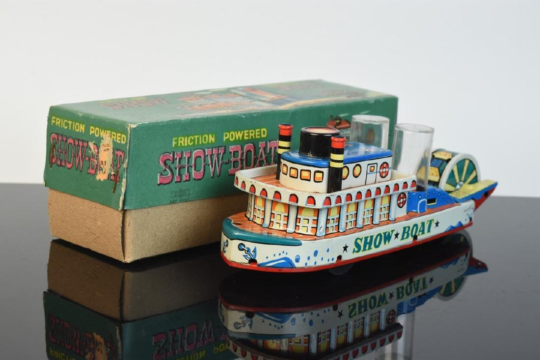 Friction Powered Tin Litho Show-Boat Toy; OB - 7