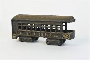 Cast Iron STL OR Railroad Car No 44