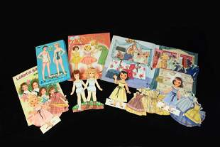 Large Collection of 1950s Paper Doll Clothes