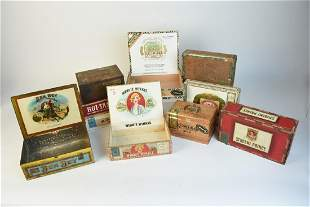10 Vintage Cigar Boxes