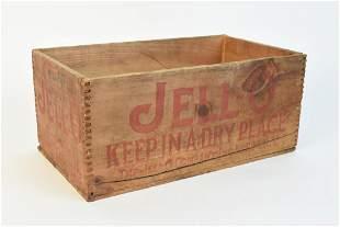 JellO Advertising Wood Store Box
