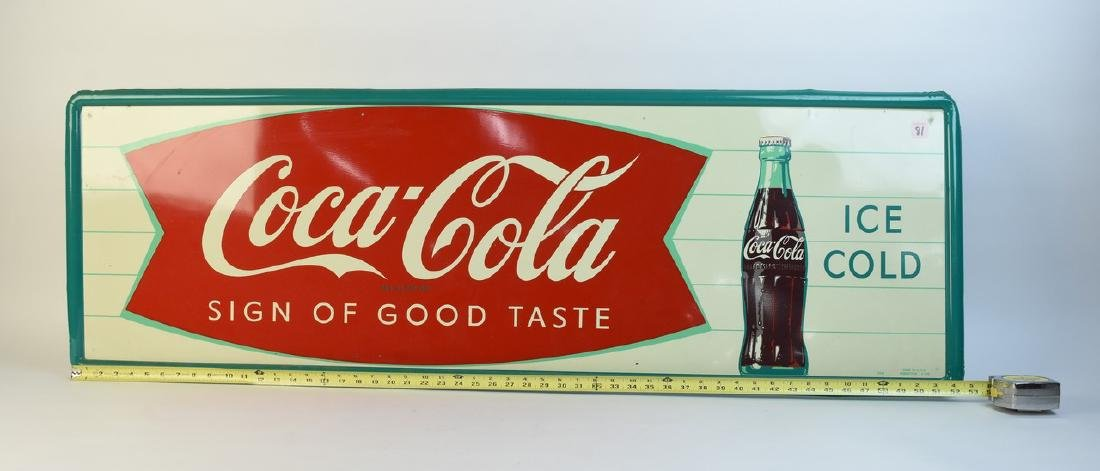 Large Coca-Cola Metal Advertising Sign - 2