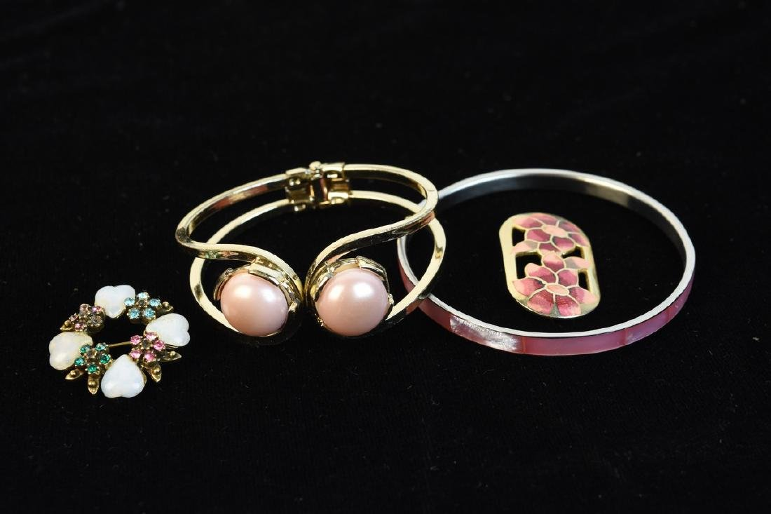 Costume Jewelry; Trifari, Lisner, Monet + - 2