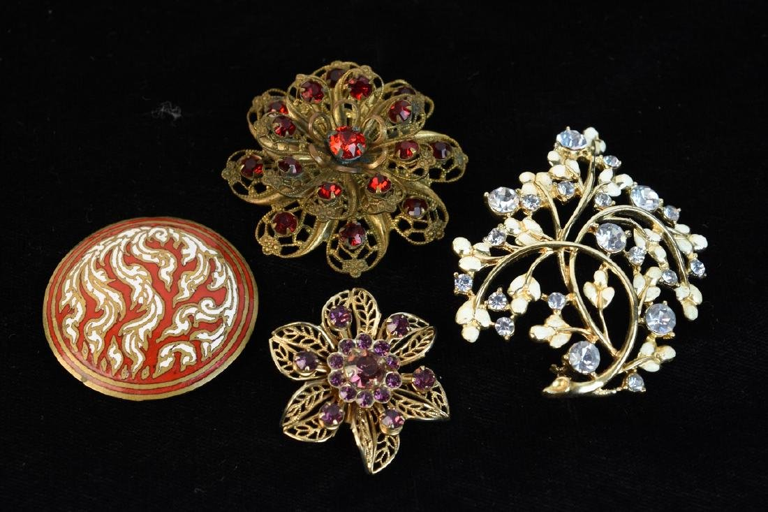 Costume Jewelry; Trifari, Lisner, Monet + - 3