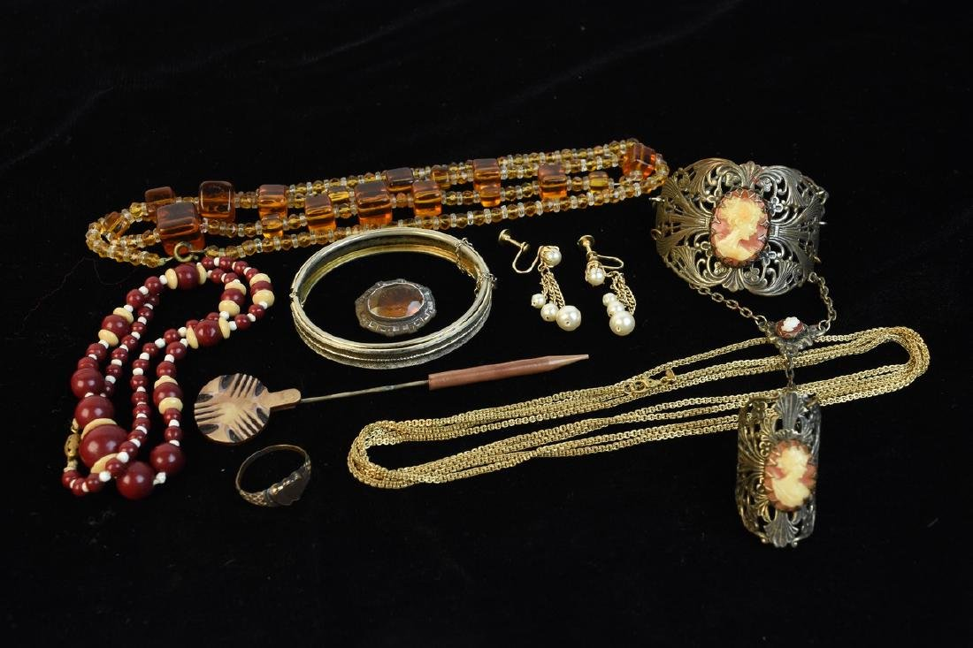 Costume Jewelry; Trifari, Lisner, Monet + - 7