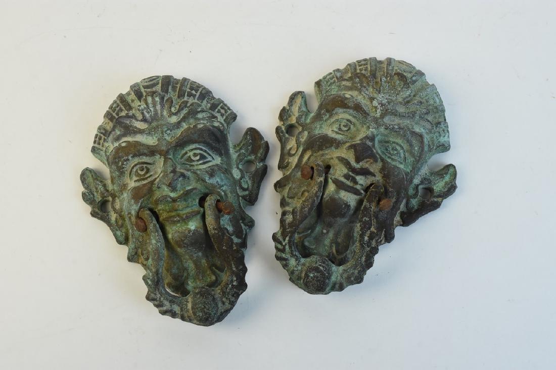 Pair of Cast Iron Figural Door Knockers
