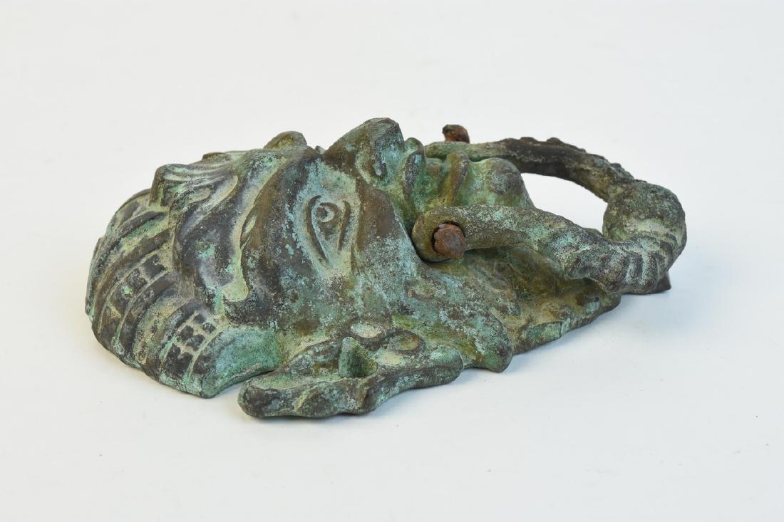 Pair of Cast Iron Figural Door Knockers - 2