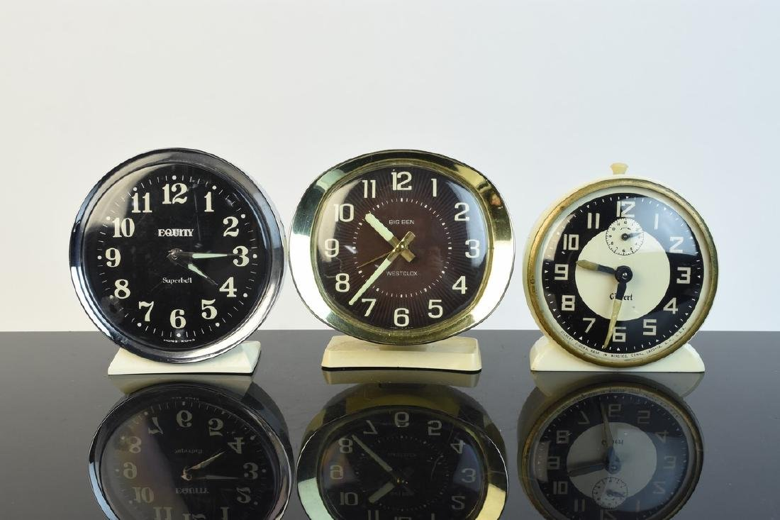 (5) Vintage Desk Top Alarm Clocks - 2