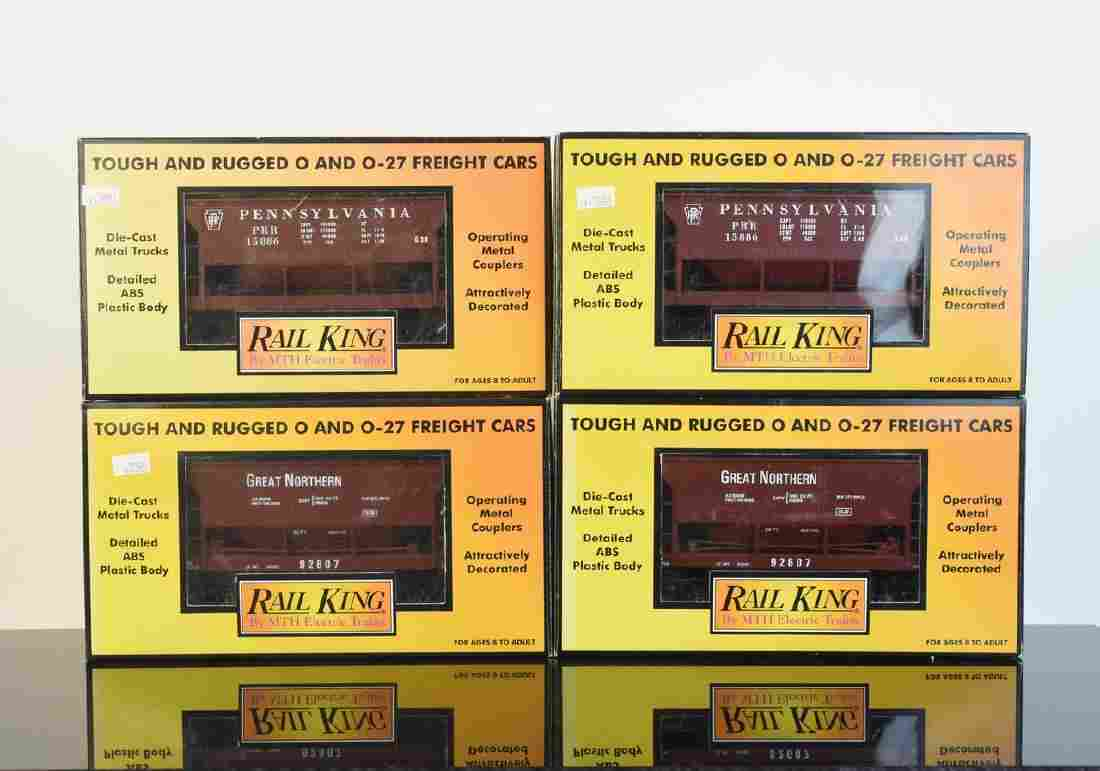 (4) MTH Rail King Freight Cars; OB