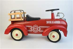 Hook Ladder Riding Fire Engine Toy