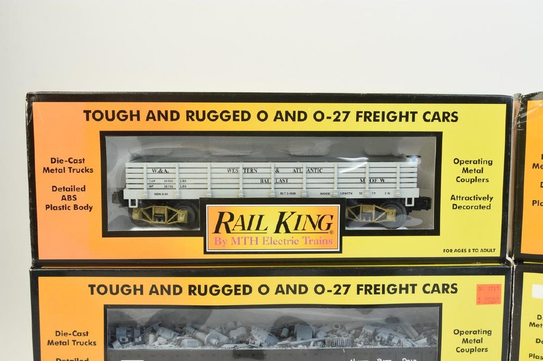 (4) Rail King by MTH Electric Train Cars; OB - 2