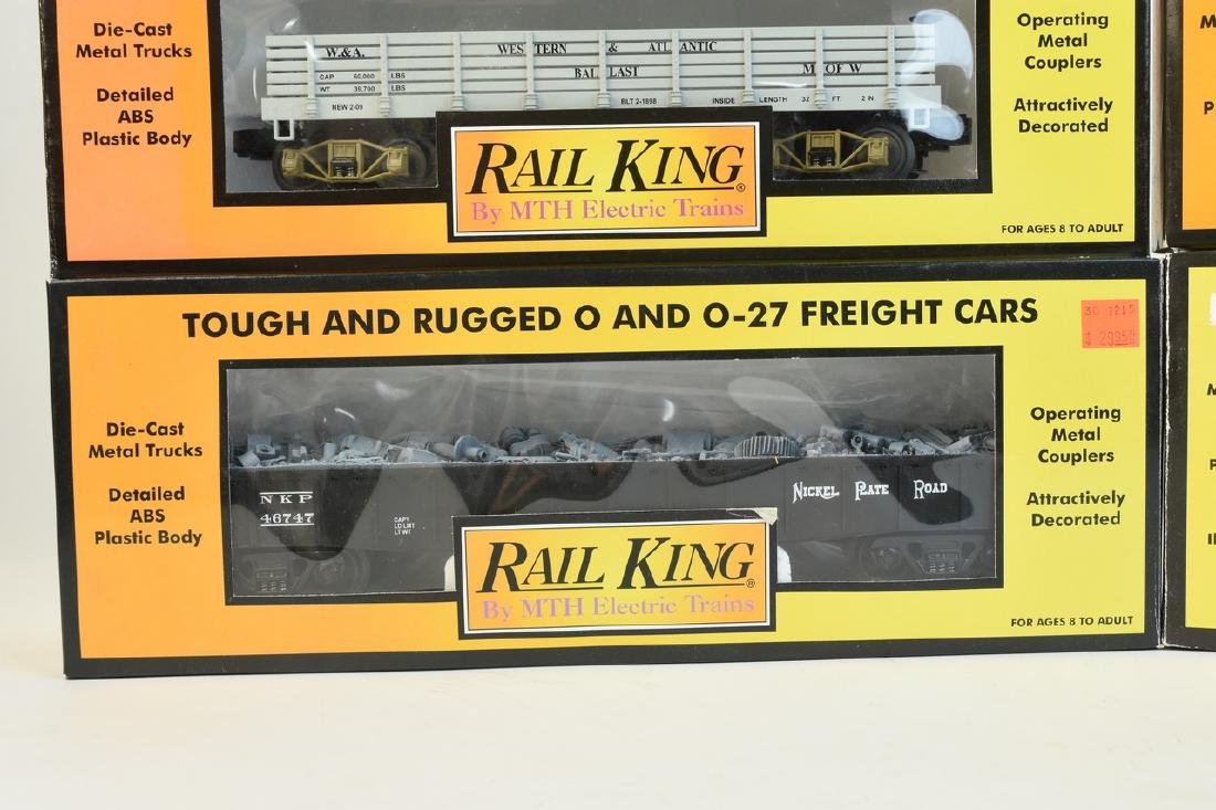 (4) Rail King by MTH Electric Train Cars; OB - 3
