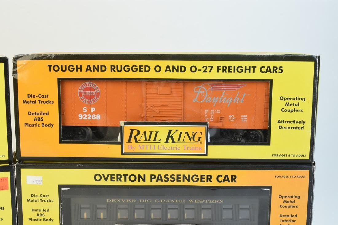 (4) Rail King by MTH Electric Train Cars; OB - 4