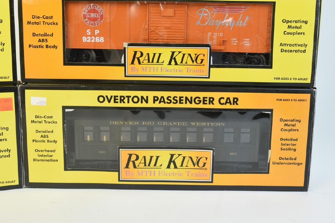 (4) Rail King by MTH Electric Train Cars; OB - 5