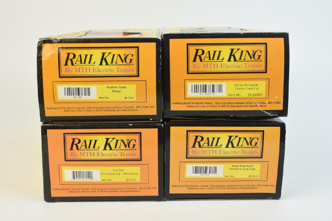 (4) Rail King by MTH Electric Train Cars; OB - 6