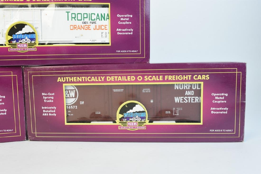 (3) MTH O Scale Freight Cars; OB - 4