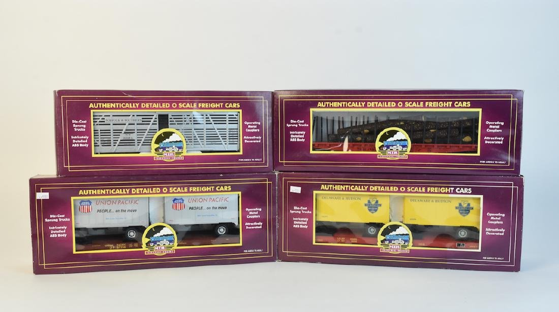 (4) MTH O Scale Electric Train Freight Cars