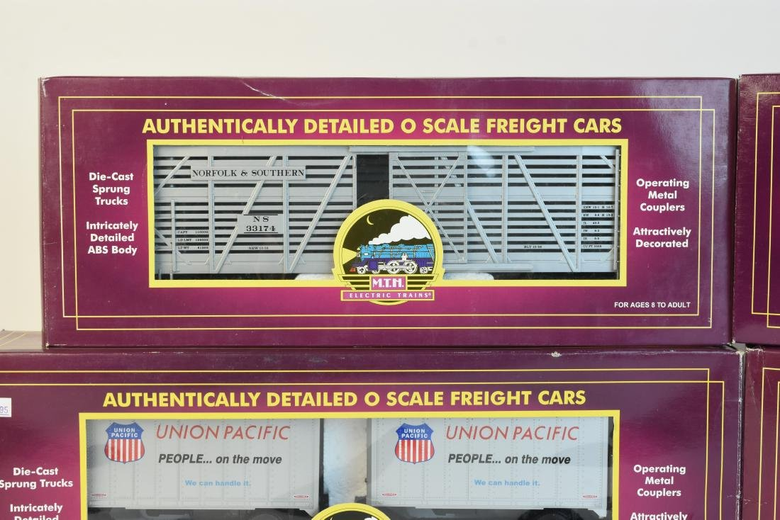 (4) MTH O Scale Electric Train Freight Cars - 2