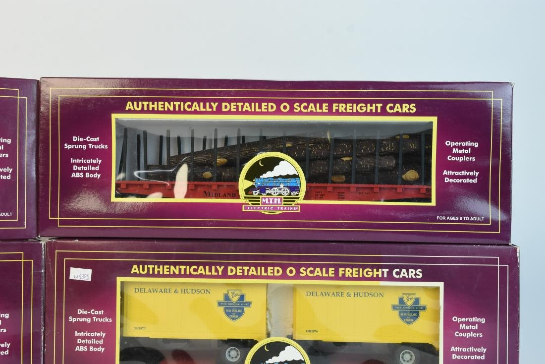 (4) MTH O Scale Electric Train Freight Cars - 3