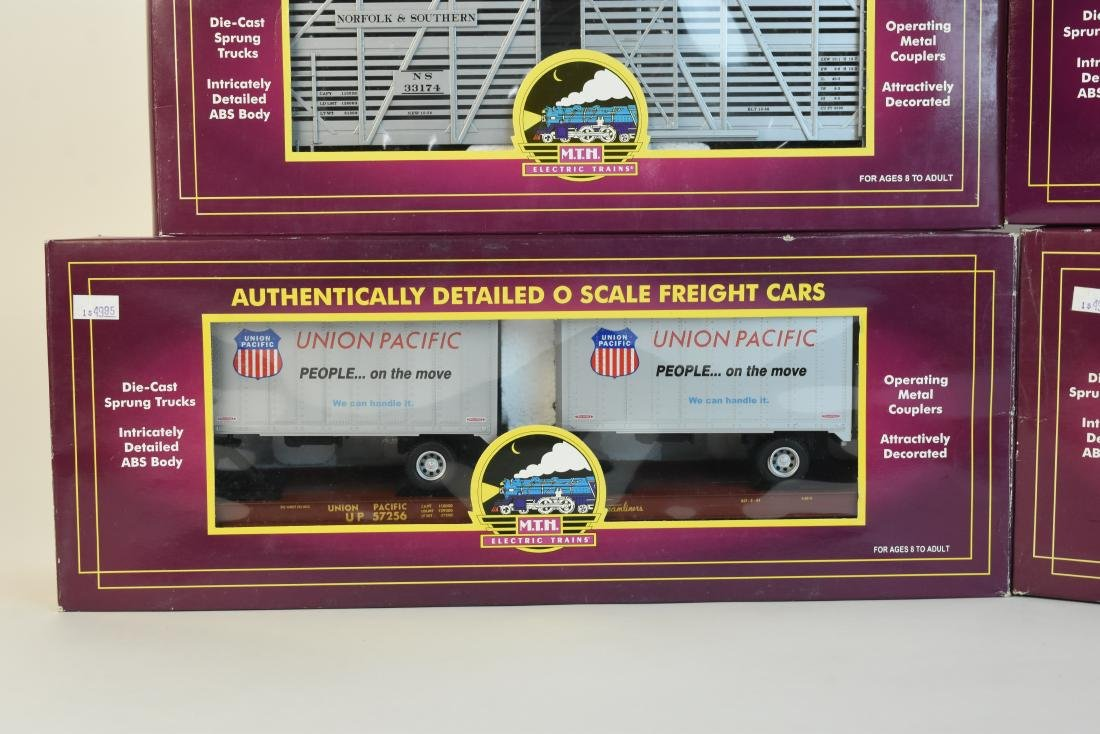 (4) MTH O Scale Electric Train Freight Cars - 4