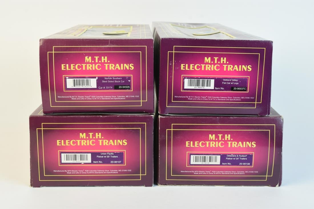 (4) MTH O Scale Electric Train Freight Cars - 6