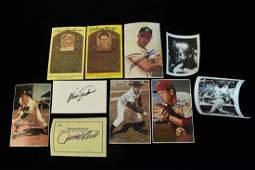 Baseball Hall of Fame Autographed Photos