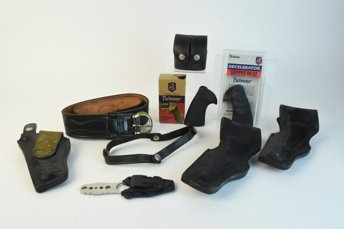 Leather Gun Holsters, Belt & Gun Grips