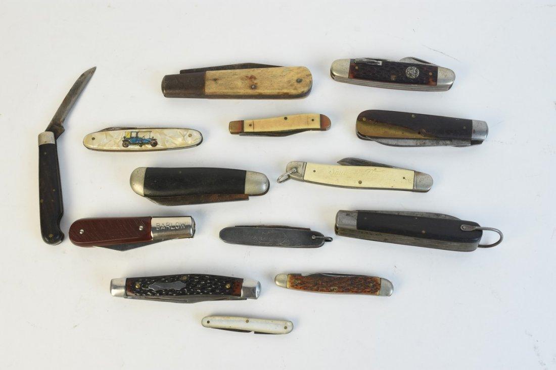 (14) Vintage pocket knives; Boker, Crucible +