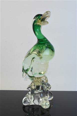 Italian Art Glass Duck Figural