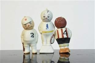 Vintage Bisque Sports Theme Nodders