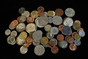 Assorted US Foreign Coins