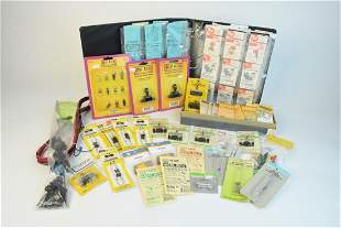 Large Collection of Model Train Accessories