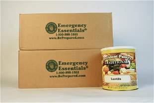 12 Provident Pantry Lentils 5 lb 8 oz Cans
