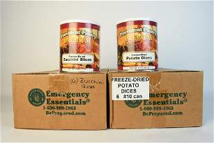 12 Provident Pantry Freeze Dried Canned Food