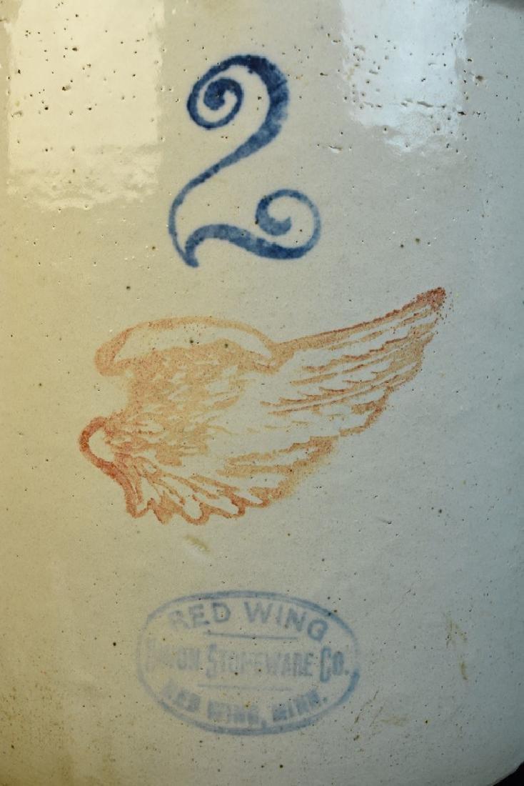 2 gallon Red Wing and (2) Salt Glazed Crocks - 8