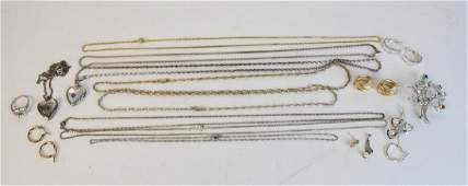 Sterling & White Gold Jewelry; 2.3 ozt. & 2g