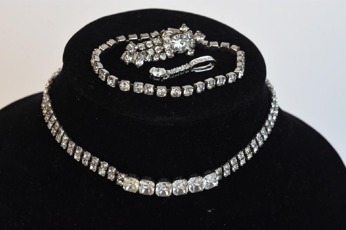 Vintage Rhinestone Costume Jewelry - 10